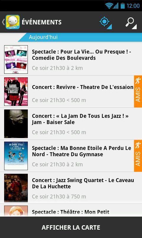 Balumpa sortir soirée concert - screenshot