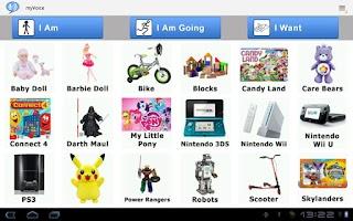 Screenshot of AAC Autism Communicator