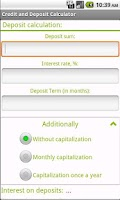 Screenshot of Loan and Deposit calculator