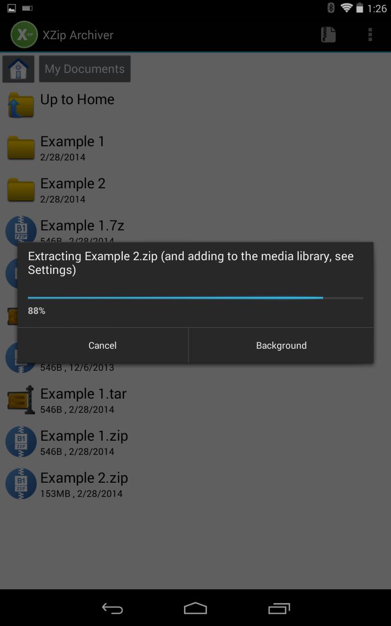 XZip - zip unzip unrar utility Screenshot
