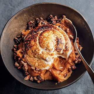 Sweet Potato Puree with Marshmallow and Pecans
