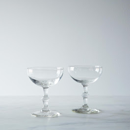 Vintage Champagne Coupes - Set of 2