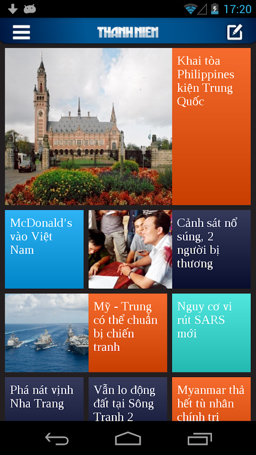Thanh Nien Mobile - screenshot