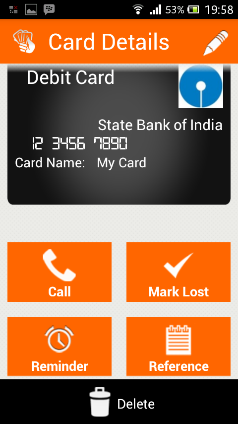 Lost My Wallet Lite - India - screenshot