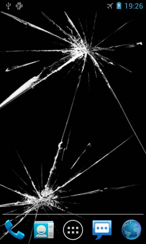 Cracked Screen Live Wallpaper - screenshot