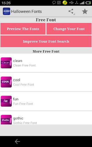 Fonts for FlipFont Halloween
