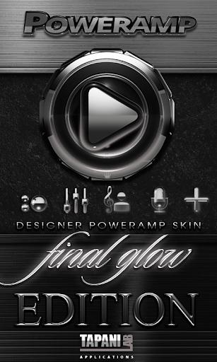 Poweramp skin Silver Glow