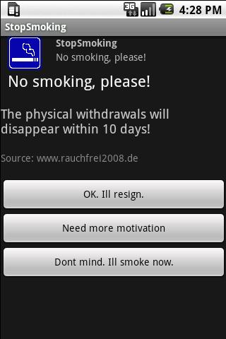 StopSmoking - screenshot