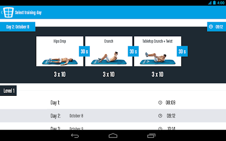 Runtastic Six Pack Abs Workout 1.3 screenshot 31787