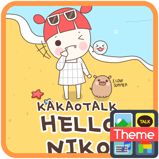 삐삐 니코와 피망이의 여름 카카오톡 테마 LOGO-APP點子