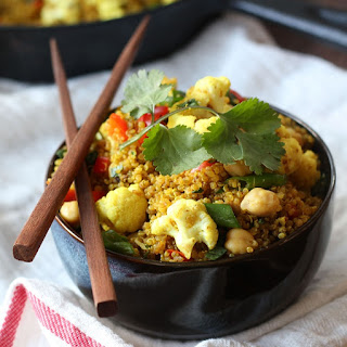 Curried Quinoa Fried Rice.