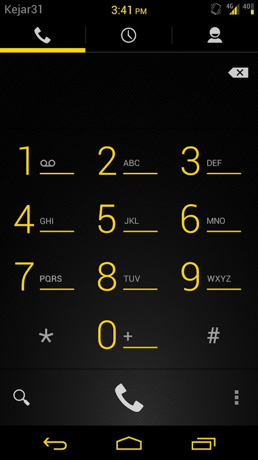Gummy  CM9 Theme Liberty Gold - screenshot