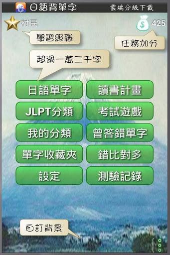 日語背單字 JLPT N5~N1