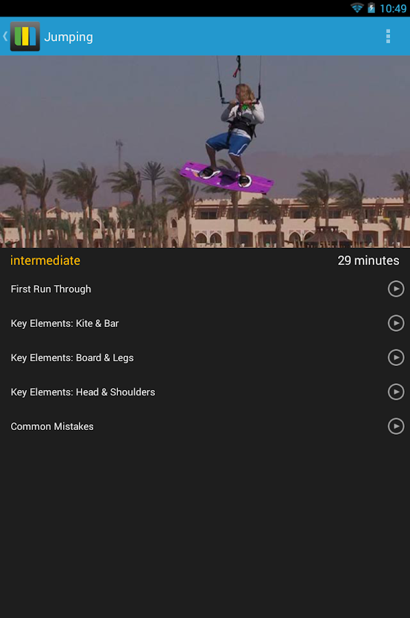 Kitesurfing Progression Player - screenshot