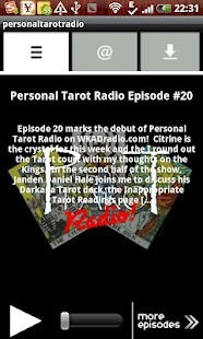 personaltarotradio- screenshot thumbnail