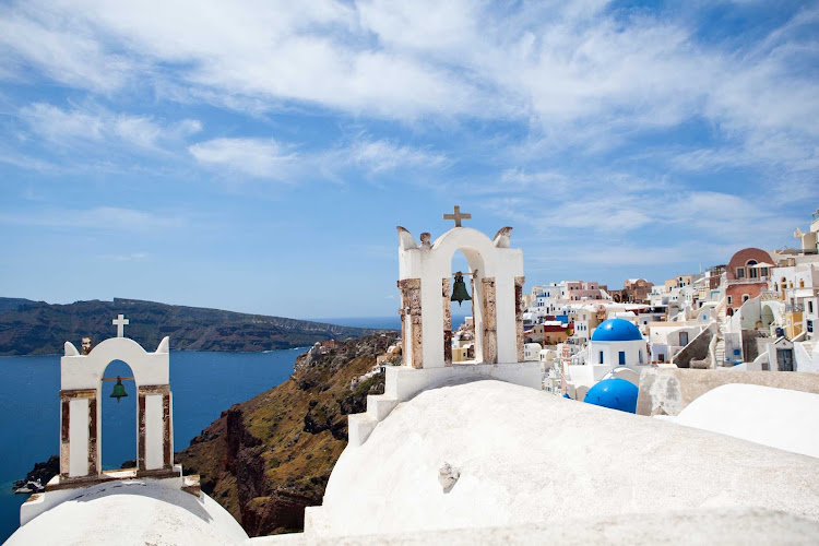 Discover some of the most captivating views on earth when you explore Santorini on a Seven Seas Mariner shore excursion.