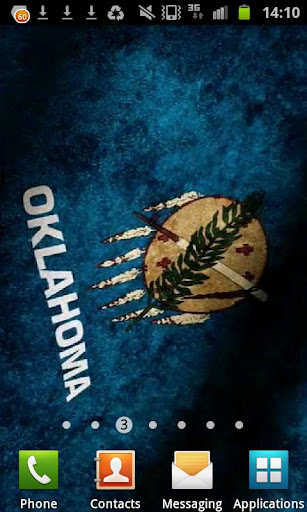 Oklahoma Flag Live Wallpaper