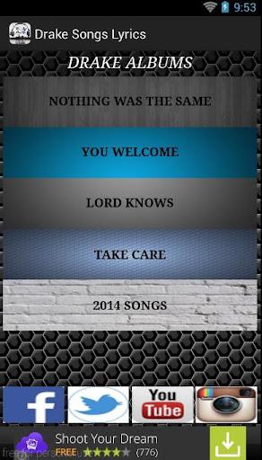 Drake Songs