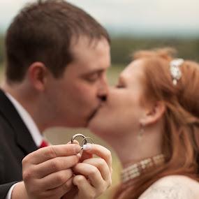 symbols of love by Raymond Durrell - Wedding Bride & Groom