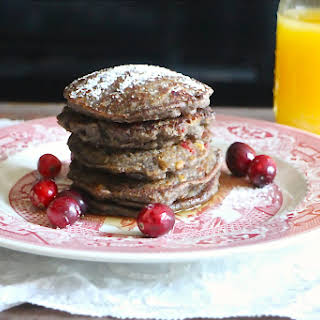 Cranberry and Walnut Buckwheat Pancakes.