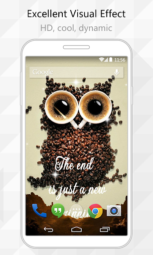 Coffee Owl Live Wallpaper