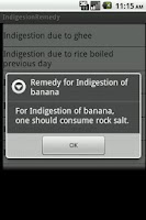 Screenshot of Indigestion remedy