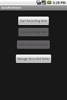 Screenshot of AutoRecNotes