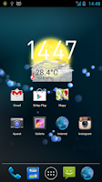 Screenshot of 14 days Weather Flip Clock °F