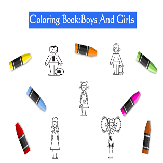 Coloring Book: Boys And Girls