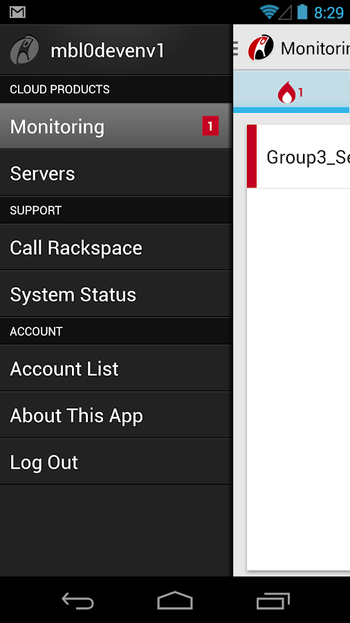 Rackspace Cloud - screenshot