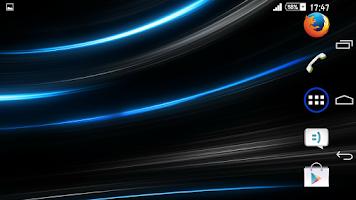 Screenshot of Theme Xperien Rays Blue