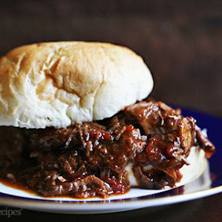 Braised BBQ Beef Sandwich.