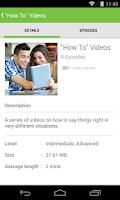 Screenshot of LearnEnglish Audio & Video