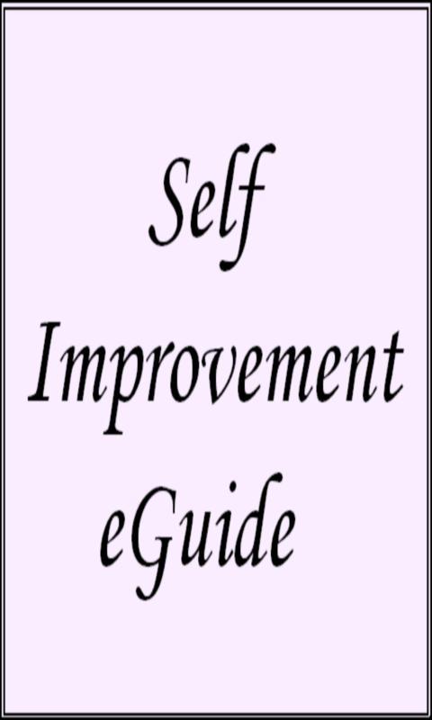 Self Improvement eGuide- screenshot
