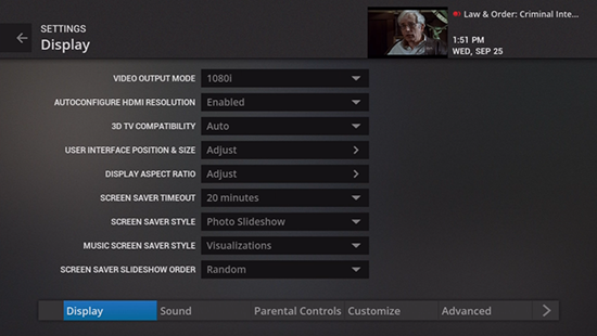 Display legacy Google Fiber TV settings options