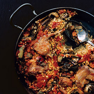 Paella with Rabbit and Artichokes