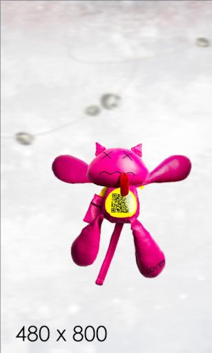Shaking Pink Cat