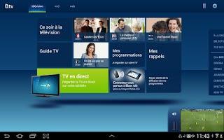 Screenshot of B.tv tablette