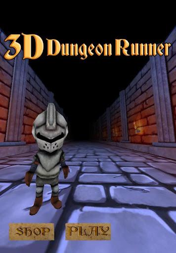 走る 3Dプチキャラ 3Dダンジョンランナー