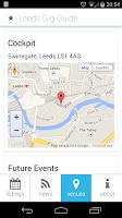 Screenshot of Leeds Gig Guide