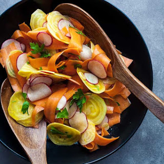 Shaved Golden Beet, Carrot and Radish Salad