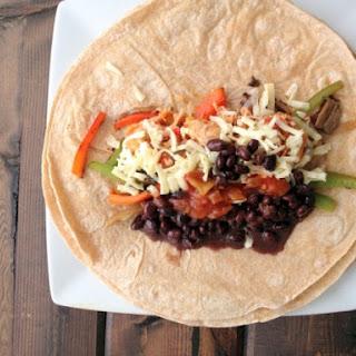 Chicken Fajita Burritos