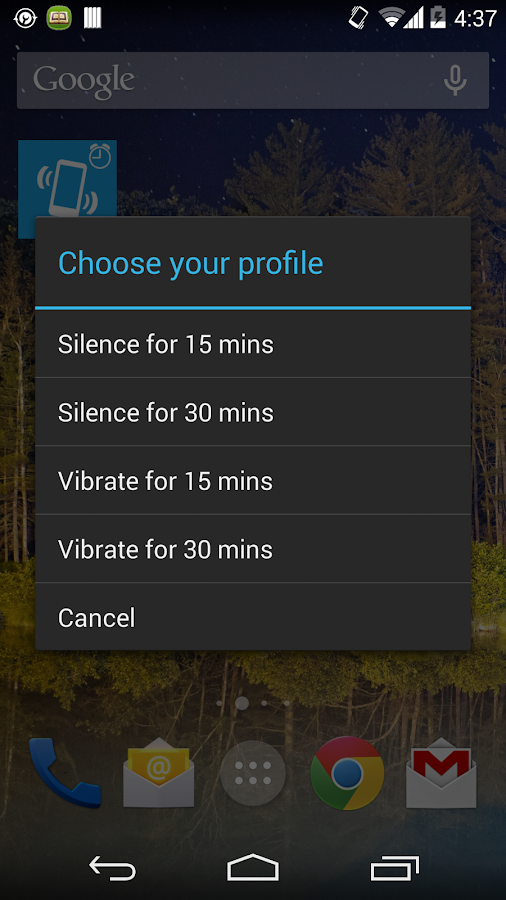 Profile Timer Widget 4 Android - screenshot