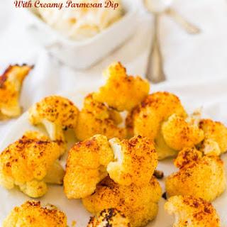 Baked Parmesan Edamame Bites with Creamy Wasabi Dip