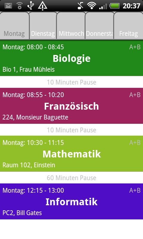Schedule Deluxe Plus - screenshot