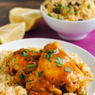 Slow Cooker Moroccan Spiced Stew with Fruit and Nut Couscous Pilaf #CampbellSauces