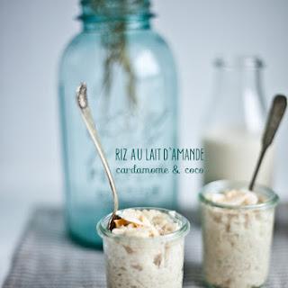 Rice With Almond Milk, Cardamom & Coconut.