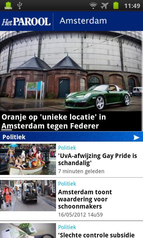 Het Parool Mobile - screenshot