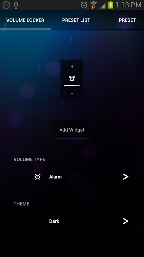 Persist Volume Control - screenshot