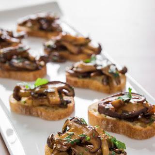 Mushroom Bruschetta.